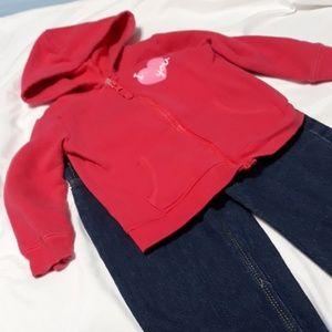 Carters Sweatshirt & Coogi Jean's 2T